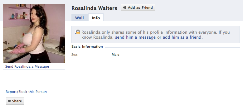 LookIt: Why does Facebook want me to be friends with Rosalinda Walters?
